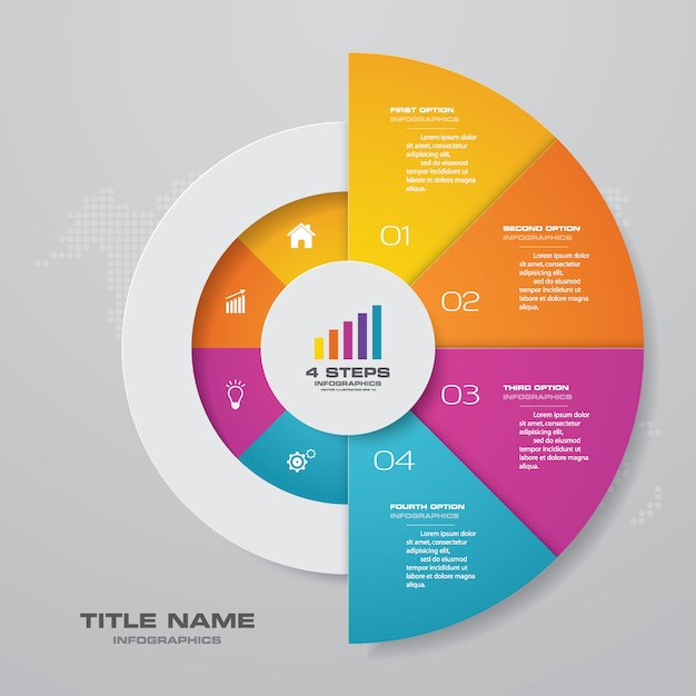 Элемент диаграммы инфографика Premium векторы
