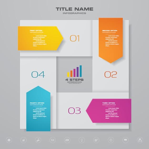 Infographics chart element Premium Vector