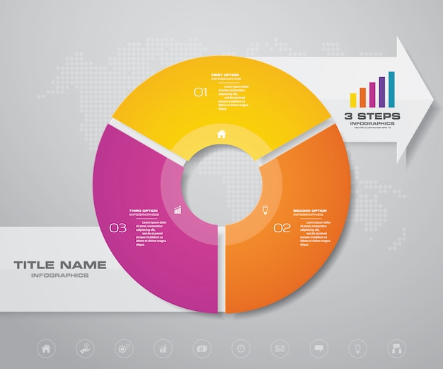 Infographics design element. Premium Vector