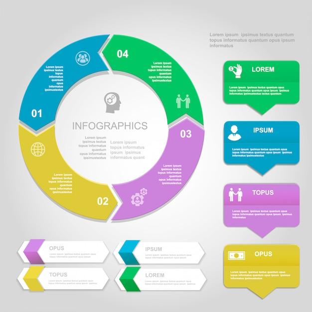 Infographics design template, presentation and chart Premium Vector