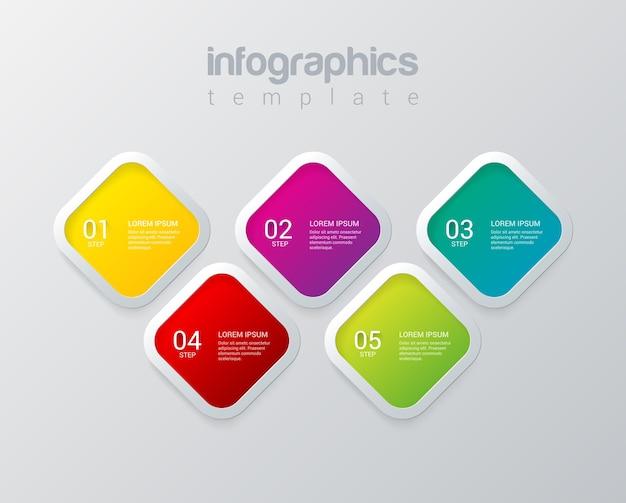 Инфографика дизайн вектор шаблон многоцветный шаблон коллекция концепций фона инфографики Бесплатные векторы