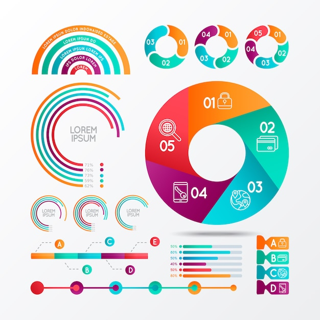 Infographics elements vector for proyects Premium Vector