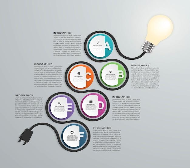ビジネスプレゼンテーションまたは情報バナーのインフォグラフィック Premiumベクター