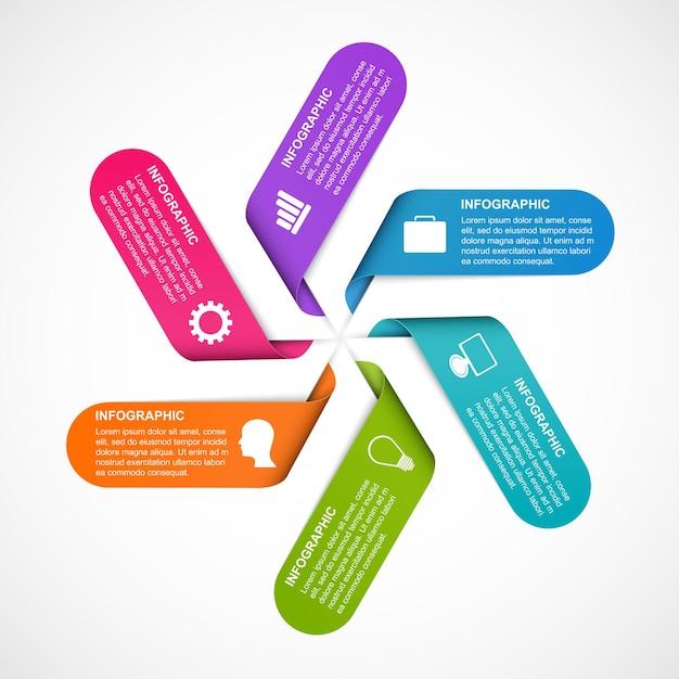 ビジネスプレゼンテーションまたは情報バナーのインフォグラフィック。 Premiumベクター