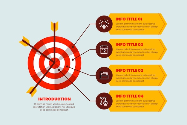 Infographics goals Free Vector