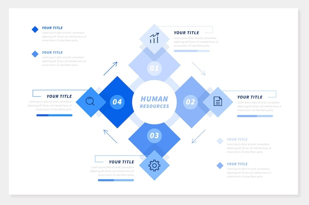 Infographics human resources Free Vector