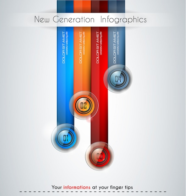 Infographics modern template to classify data and informations Premium Vector