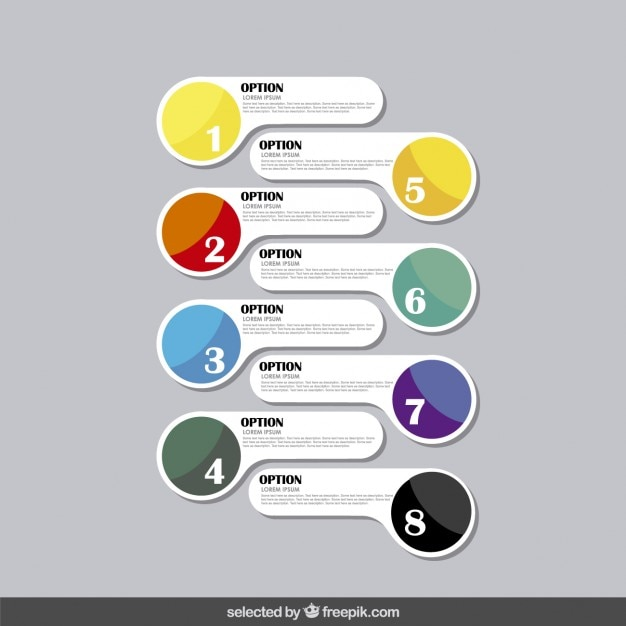 Infographics options in modern style Free Vector