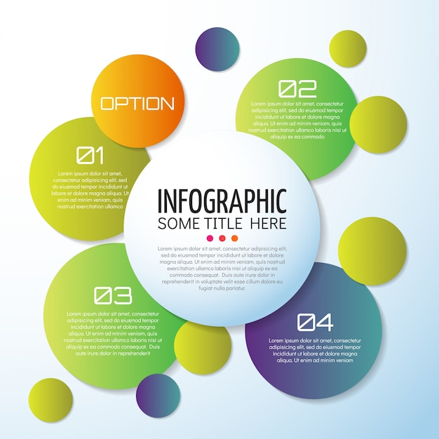 infographics template design vector free download