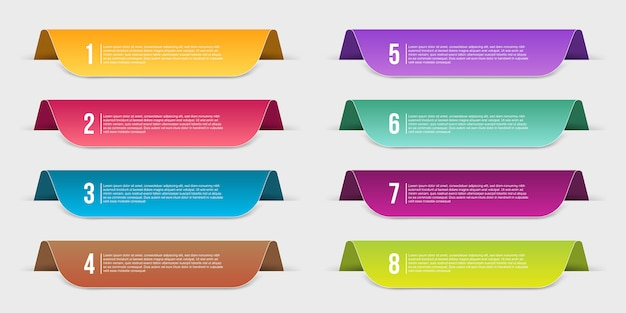 Infographics template step banner Premium Vector