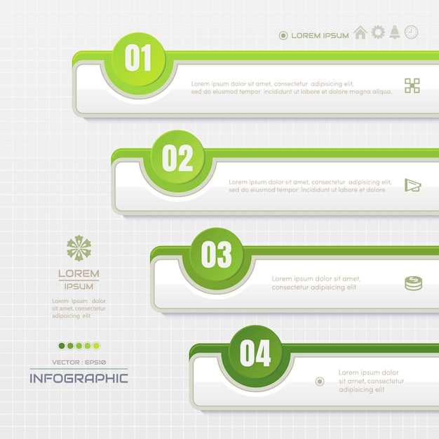 Infographics template with icons Premium Vector