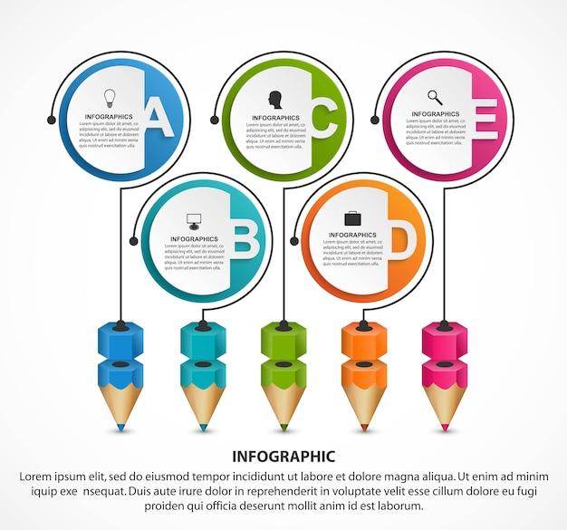 ビジネスプレゼンテーション用の数字オプション付きのインフォグラフィックテンプレート Premiumベクター