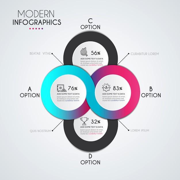 Инфографика шаблон Premium векторы