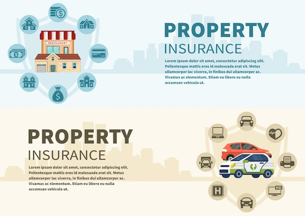 Infographics types of car and real estate vector Premium Vector
