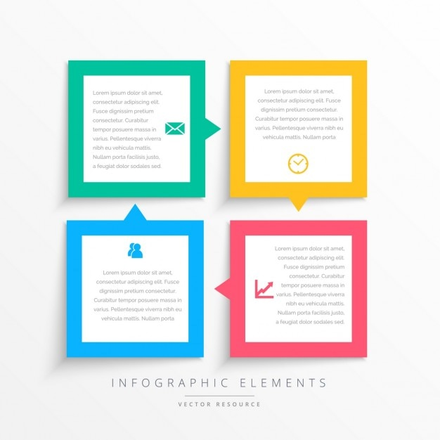 Infographics with full color frames Vector | Free Download