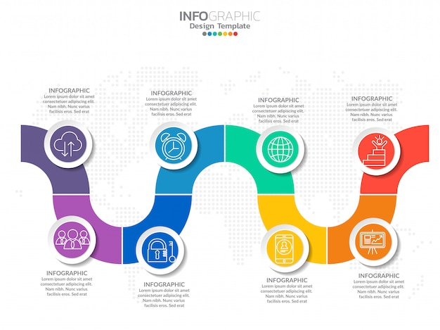 Infographics with step Premium Vector