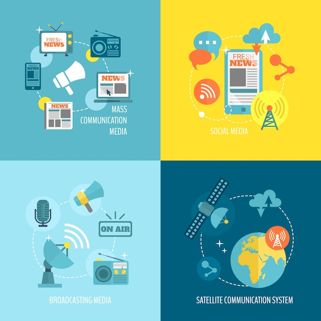 Infography about communication Premium Vector