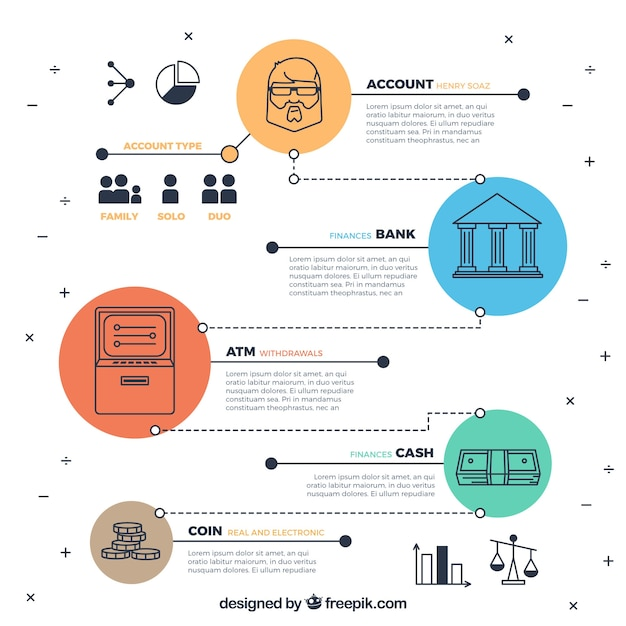 Infography of economy in modern style Free Vector