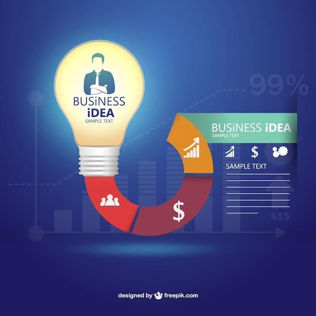 Шаблон infography бизнес-идея Бесплатные векторы