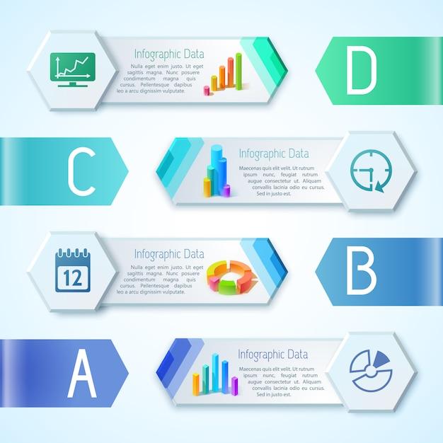 共同場所と六角形フレームで現代のコミュニケーションピクトグラムと情報概念 Premiumベクター
