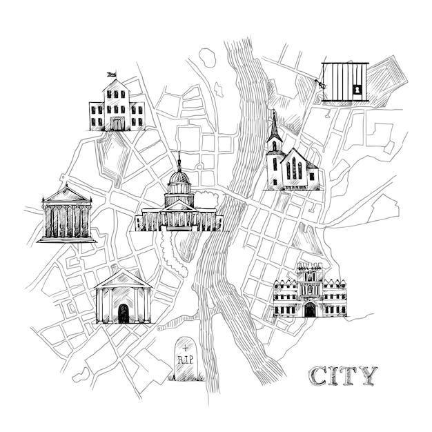 Information city map Premium Vector