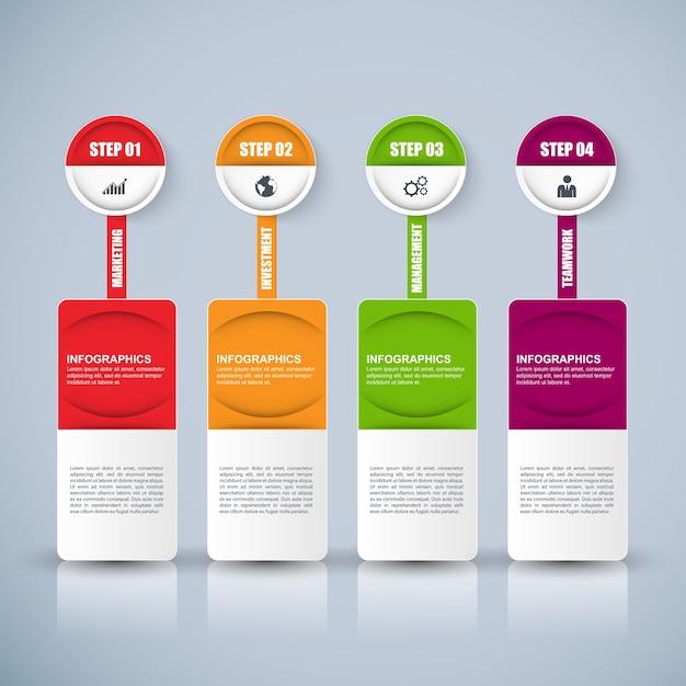 Information infographics design. Infographics statistic vector. Infographic for presentation Premium Vector