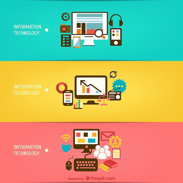 Information technology vectors Vector | Free Download