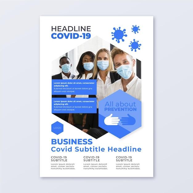 Modello di volantino informativo sul coronavirus Vettore gratuito