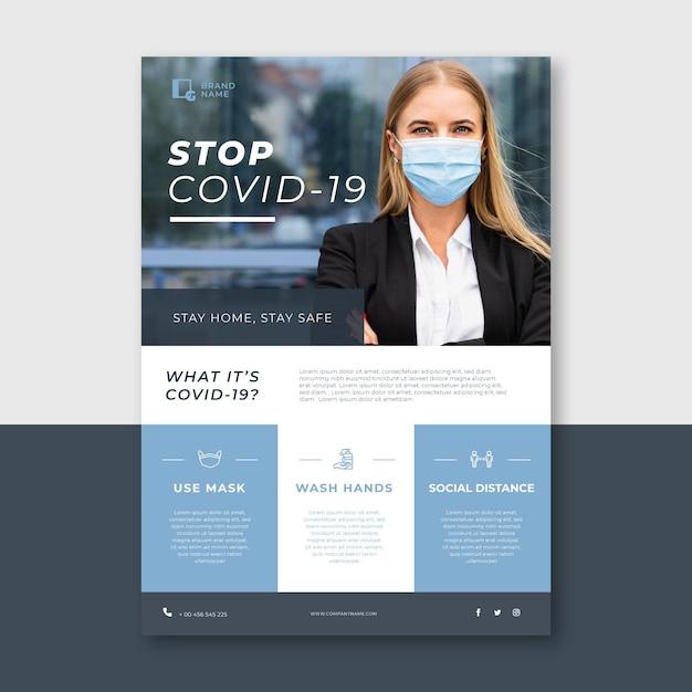 Volantino informativo sul coronavirus Vettore gratuito