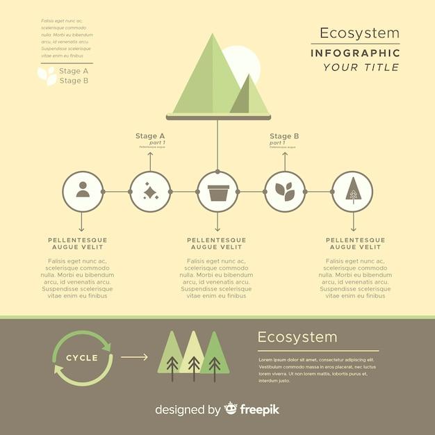 Informative ecosystem infographics concept Free Vector