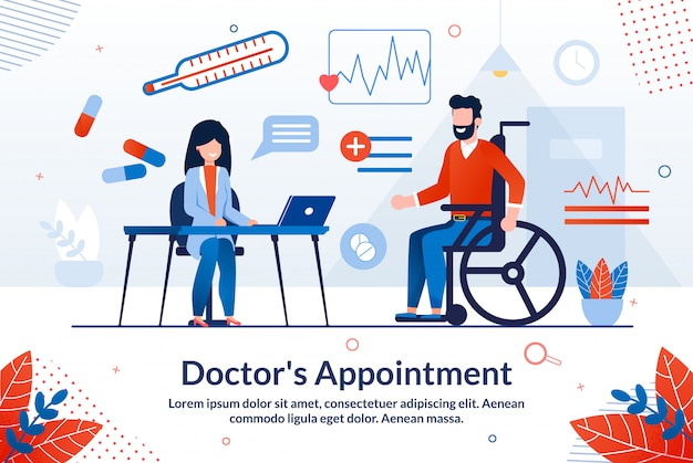 Informative poster is written doctors appointment. Premium Vector