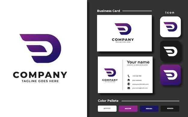 Initial d logo template Premium Vector