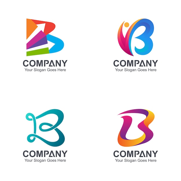 Initial letter b logo collection Premium Vector