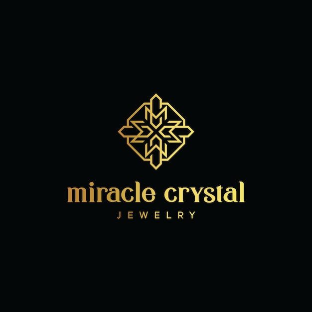 Initial letter cm logo with octagon gold vector template Premium Vector