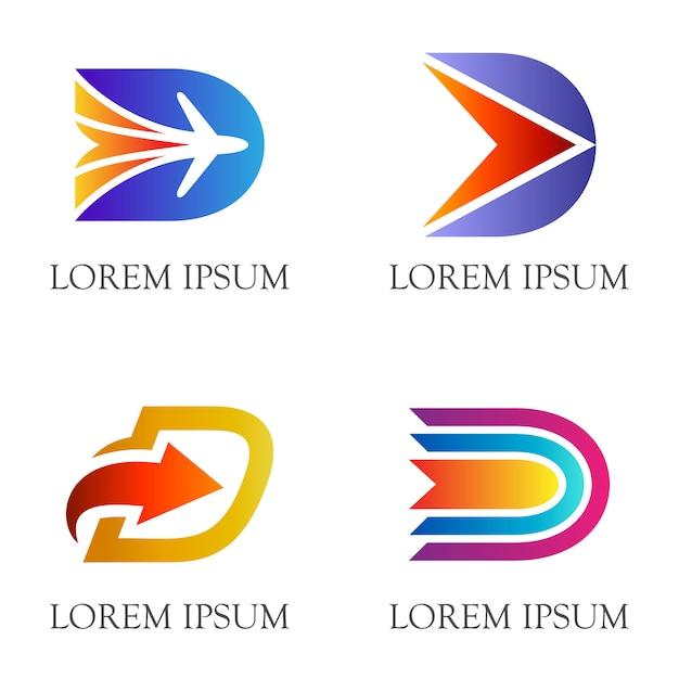 Initial/letter d flat logo design Premium Vector