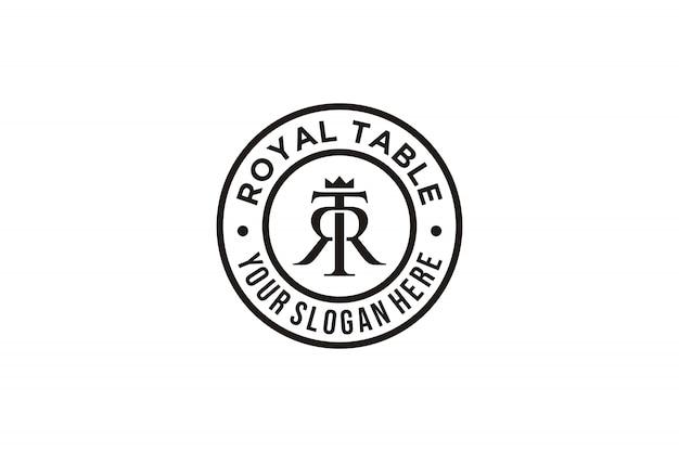 Initial letter t r logo inspiration Premium Vector