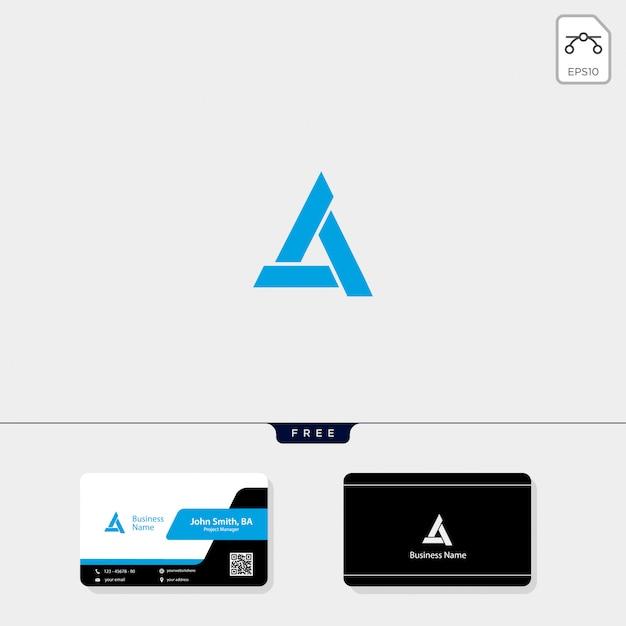 Initial a, minimal logo template Premium Vector