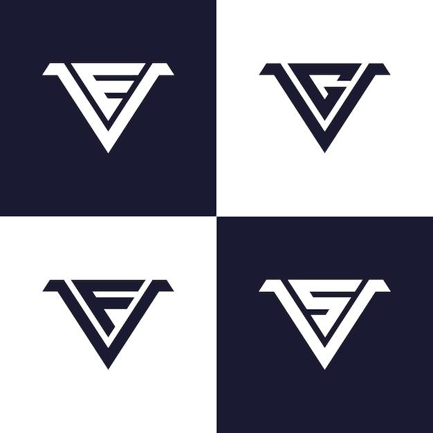 Initial monogram logo template Premium Vector