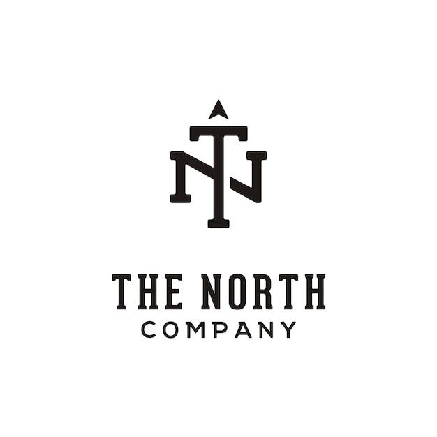 Initial/monogram tn for north logo Premium Vector