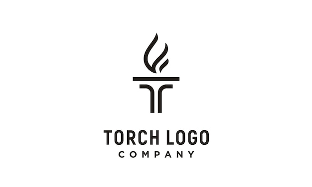 Initial t for torch logo Premium Vector