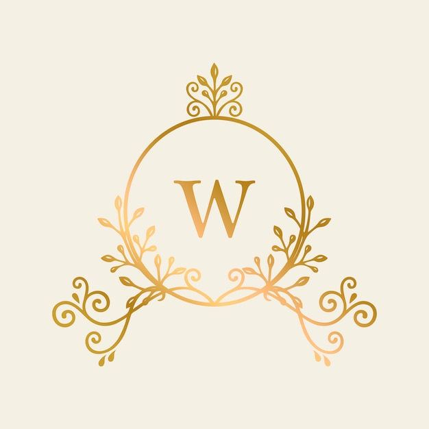 Initialed gold frame background Free Vector