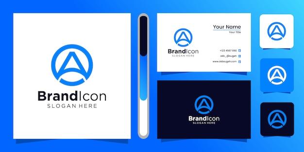 Initials a logo design template. Premium Vector