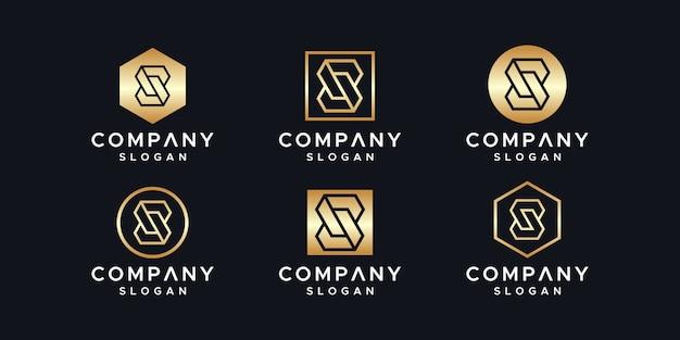 イニシャルのロゴデザインテンプレート。 Premiumベクター