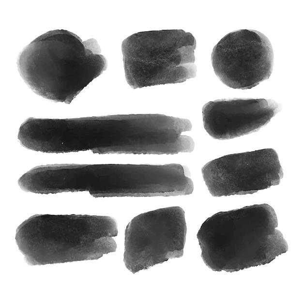 Collezione di pennellate di inchiostro Vettore gratuito