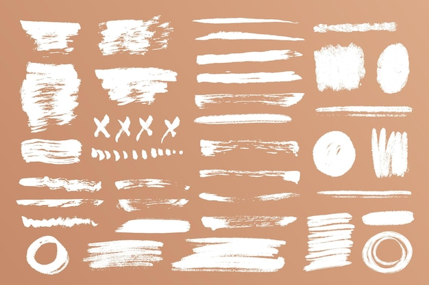 Ink brush stroke collection Free Vector
