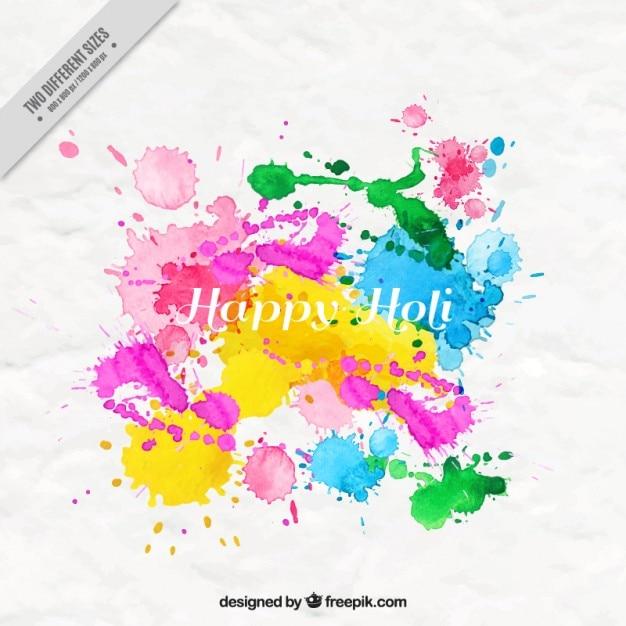 Ink splashes holi background Premium Vector
