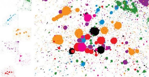 Ink spray splatter vector Free Vector