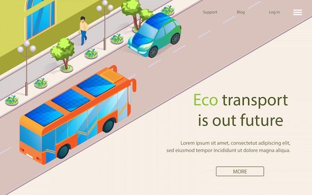 Inscription eco transport is our future lettering. Premium Vector