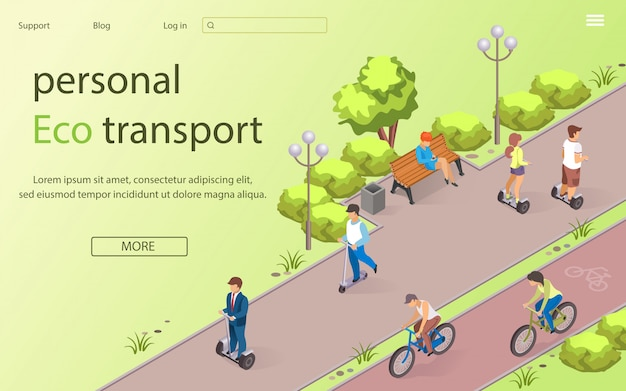 Inscription personal eco transport lettering. Premium Vector