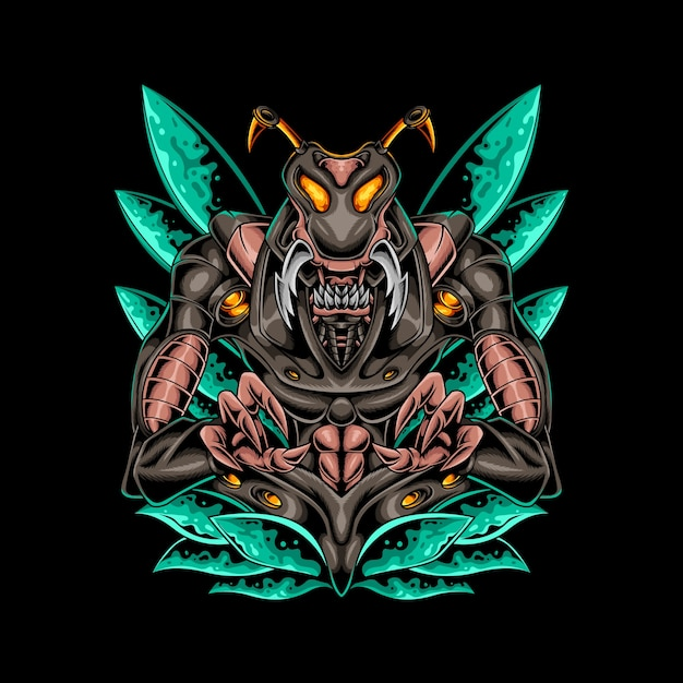 Insect robotic style Premium Vector